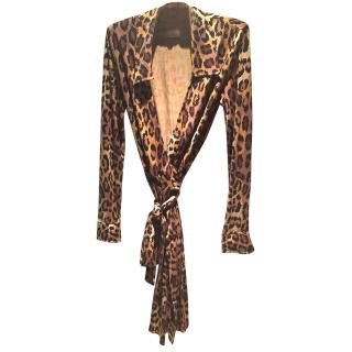 DVF Leopard Print Wrap Dress