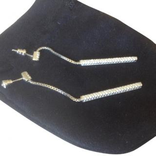Emporio Armani silver crystal earrings