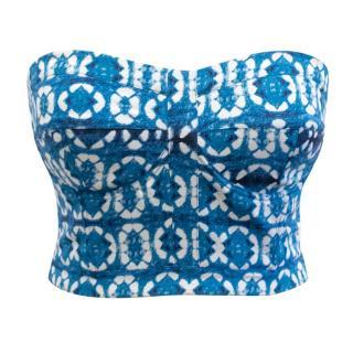 Rebecca Minkoff Blue Pattern Bralet