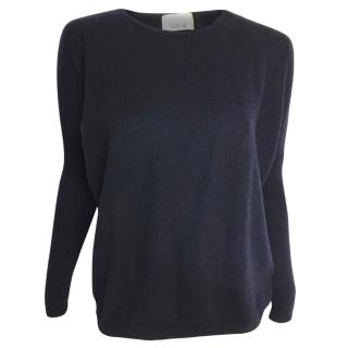 Allude cashmere blend sweater with studded back