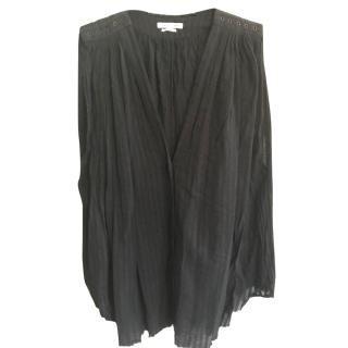 Isabel Marant Etoile Black Cheesecloth Loose Fitting Blouse