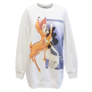 Givenchy White Bambi Sweatshirt