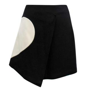 MGSM Black and Cream Felt Heart Skirt