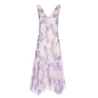 Diane Von Furstenberg DVF Dita Silk A-Line Midi Dress
