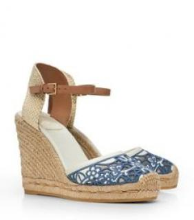 Tory Burch lace wedge espadrilles
