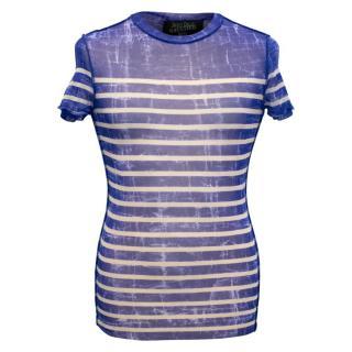 Jean Paul Gaultier Men's Blue Stripes Top