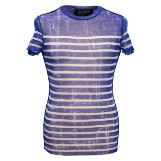 Jean Paul Gaultier Men's Blue Stripes Top