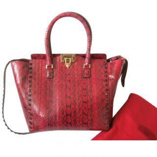 Valentino Rockstud Python Handbag