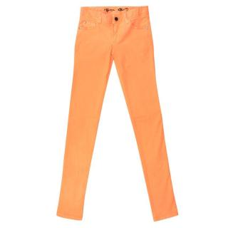 Alice and Olivia Neon Orange Jeans