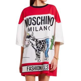 MOSCHINO OVERSIZED T SHIRT DRESS