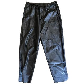 Isabel Marant Etoile Faux Leather Ankle Length Trousers