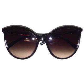 Giorgio Armani Round Brown Sunglasses