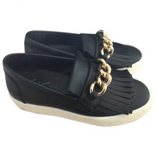 Giuseppe Zanotti Black May London Fringed Sneakers