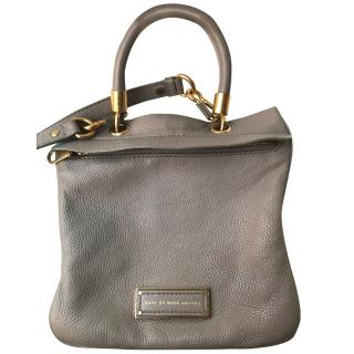 Marc Jacobs Putty Pebbled Leather Cross Body Messenger Bag