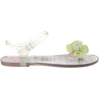 Chanel Transparent Jelly Sandals w Flower