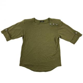 Balmain Military Green Top