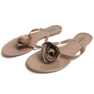 Valentino Jelly Sandals with Flower