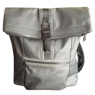 Mulberry gray fleet coated canvas backpack