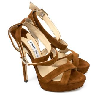 Jimmy Choo Chestnut Louisa Sandals