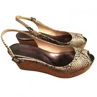 Jimmy Choo snake effect wedges