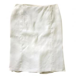 Lauren Ralph Lauren fully lined linen white skirt