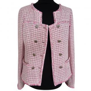 Chanel pink black jacket