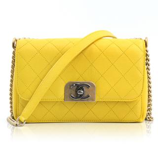 Chanel Yellow Crossbody Flap Bag