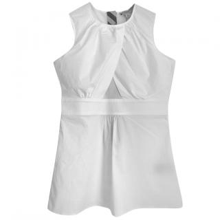 Burberry sleeveless cotton white top