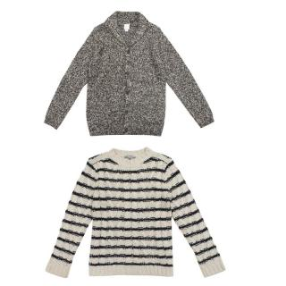 C de C and Bonpoint Kid's Cardigan and Jumper Set