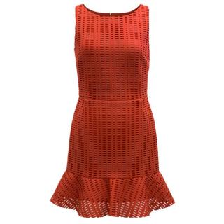 Sandro Red Textured Dress
