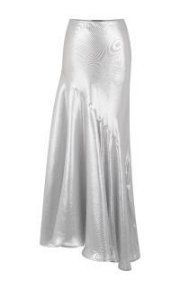 Jonathan Saunders Metallic Asymmetric Lame Maxi Skirt