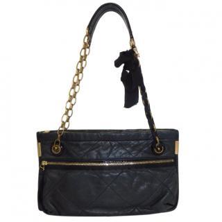 Lanvin Quilted Lambskin Amalia Medium Shoulder Bag in black
