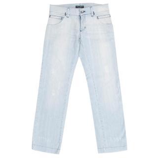 Dolce & Gabbana Men's Light Wash Jeans