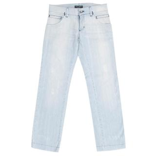 Dolce & Gabbana Men's Light Wash Jeans
