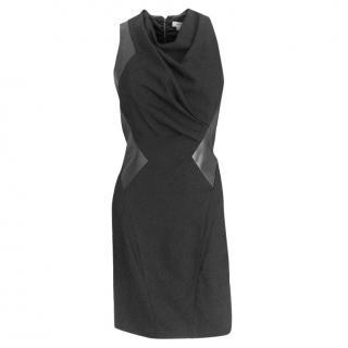 Helmut Lang leather panel dress
