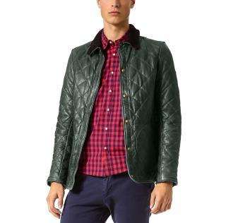 Scotch & Soda Soft Green leather jacket