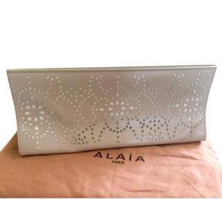 Alaia laser cut clutch