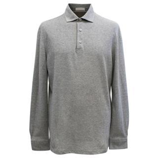 Ermenegildo Zegna Men's Long Sleeved Grey Shirt