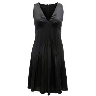 Burberry Prorsum Black Silk Dress