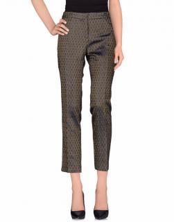 TRES CHIC S.A.R.T.O.R.I.A.L. brocade crepe trousers