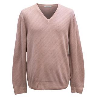 Ermenegildo Zegna Men's Dull Pink Pullover