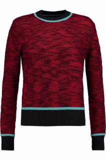 Jonathan Saunders Purple Eve Wool-trimmed Knitted Jumper