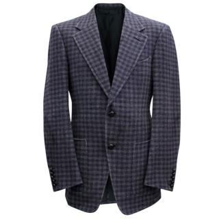 Tom Ford Black And Purple Check Blazer