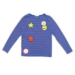 Stella McCartney Kid's Blue Striped Top