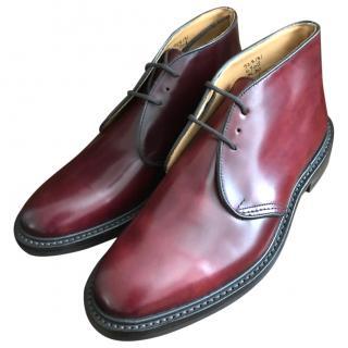 Tricker's Mens 'Aldo' Boot in Cordovan, Burgundy, New Boxed 44