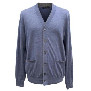 Cesare Attolini Men's Blue Cardigan