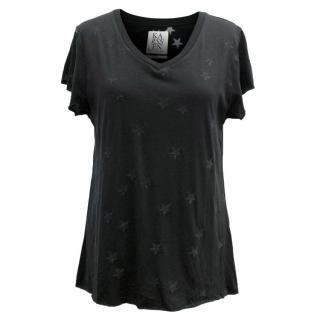 Zoe Karssen Black Star Print T-Shirt