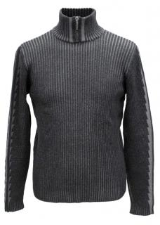 Versace Men's Grey Polo Neck Jumper