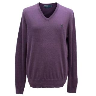 Polo by Ralph Lauren Men's Purple Jumper