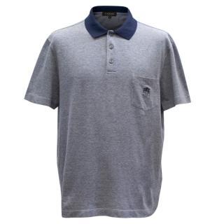 Canali Men's Blue Polo Shirt